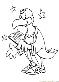 patriotic eagle coloring page free eagle coloring pages