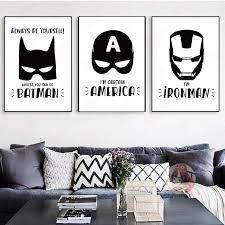 aliexpress buy cartoon batman canvas art print posters
