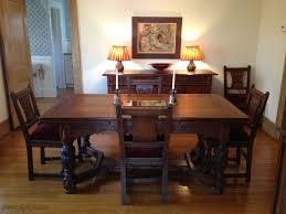 Oak Dining Room Vintage 1930s Jamestown Furniture Company Feudal Oak Dining Room