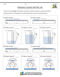 4th grade measurement worksheets