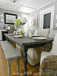 Rustic Modern Farmhouse With Farmhouse Table With A Wood Top And - Farmhouse kitchen table