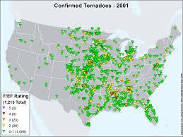 World Map 1950 An Overview Of The Modern Tornado Record 1950 Through Present