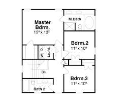 second floor plans bartlett 7014 3 bedrooms and 2 baths the house designers