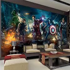 The Avengers Wall Mural Hulk Captain Americ Thor Photo Wallpaper - Kids room wall murals