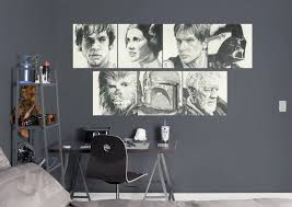 star wars decor star wars sketches collection wall decal shop fathead for star