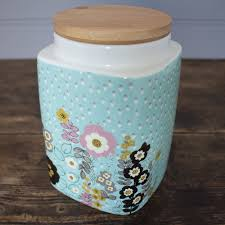 pretty retro medium storage jar kitchen storage shop by product