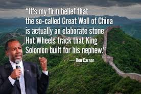 Ben Carson Meme - ben carson on great wall ben carson wikipedia know your meme
