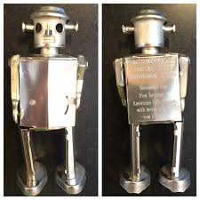 Silver wind up robot
