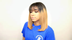how to cut your hair short with bangs straight cut trim youtube