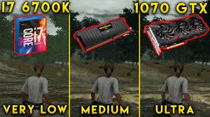 pubg 4k settings i7 6700k 1070 gtx battlegrounds very low medium ultra