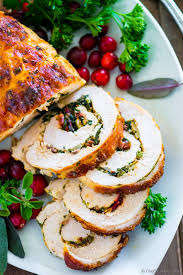 stuffed turkey breast recipe chefdehome