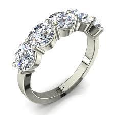 alliance en diamant alliance diamant rond et anneau diamant de 3 carats en or blanc