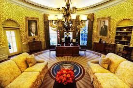 the oval office before a new president personalizes it pics