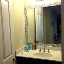 Bathroom Mirror Molding Molding Around Mirror Bathroom Trim Around Bathroom Mirror For Top