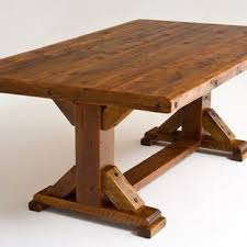 Reclaimed Wood Trestle Dining Table Reclaimed Barn Wood Beams