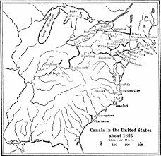 Black And White United States Map by List Of Canals In The United States Wikipedia