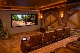 cozy home theater wall color idea using cream paint with related