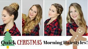 5 quick and easy morning hairstyles youtube