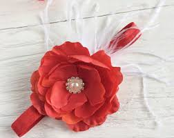 big flower headbands big flower headband etsy