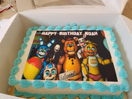 minecraft edible cake topper five nights at freddy s new generation edible cake topper
