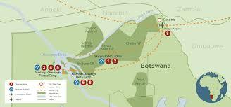 Botswana Map Highlights Of Botswana Discover Africa Safaris