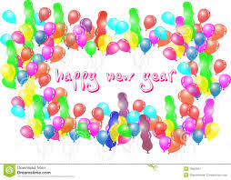 happy new year balloon happy new year balloon party royalty free stock photography