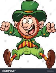 happy cartoon leprechaun vector clip art stock vector 362000270