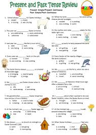 30 free esl present and past tenses worksheets