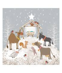 festive nativity christmas card pack of 10 cancer research uk