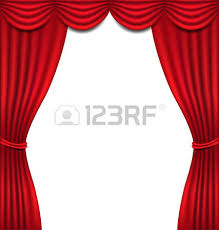 Curtains On A Stage A Microphone On A Stage With A Spotlight On It Royalty Free