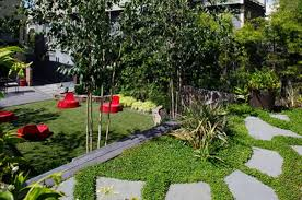 awesome contemporary garden plans showcasing easy stepping stones