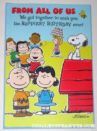 peanuts birthday cards collectpeanuts com
