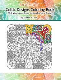 original coloring books for adults of foxvox original celtic