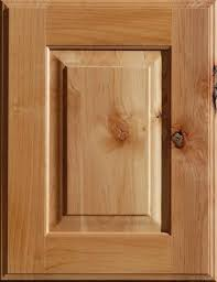 knotty alder wood cabinet door with a natural finish from dura