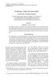 tat de si e ornithology leisure or science pdf available