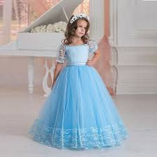 gowns for weddings blue lace flower girl dresses for weddings gown kids pageant