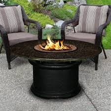 Propane Fire Pit Sets With Chairs Del Mar 48 Inch Propane Fire Pit Table By California Outdoor