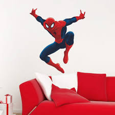 compare prices on boys wall decal online shopping buy low price cartoon spiderman wall stickers kids room nursery living room home decor 3d vinyl wall