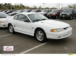 1996 Mustang Gt Interior 1996 Crystal White Ford Mustang Gt Coupe 48520121 Gtcarlot Com
