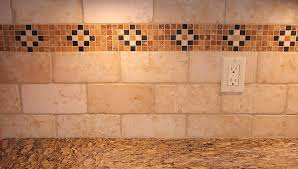 subway tiles with mosaic accents tiled backsplash accent border