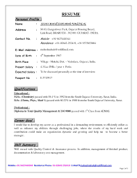 Profile Example For Resume by Sample Profile For Resume Youtuf Com