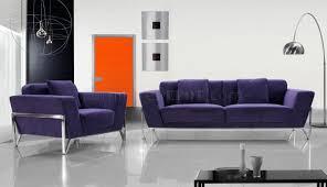 Italian Living Room Furniture Modern Microfiber 3pc Italian Living Room Set Monin Purple