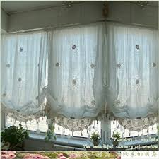 White Balloon Curtains Amazon Com Fadfay Pastoral Style Adjustable Balloon Curtain
