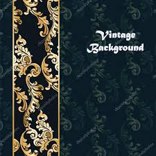 vintage background with classic ornaments stock vector