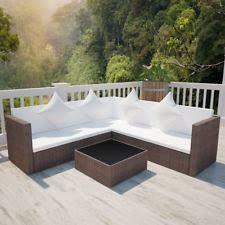 Round Outdoor Sofa Vidaxl Patio Brown Garden Half Round Rattan U0026 Wicker Sofa Lounge