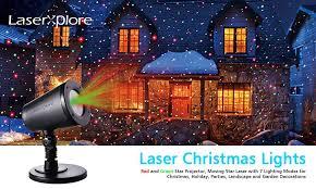 amazon com laserxplore laser christmas lights red and green star
