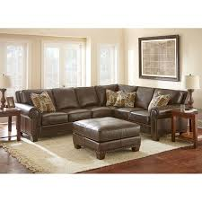 Leather Furniture Sofa Gavin Top Grain Leather Sectional And Ottoman