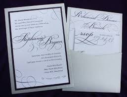 affordable pocket wedding invitations modern lavendar wedding invitations silver large names