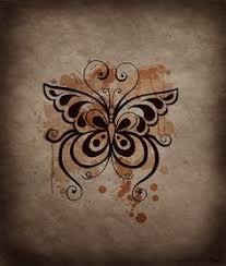 butterfly tattoos free designs thin butterfly on the flower