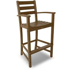 Breezesta Coastal Bar Chair by Trex Outdoor Furniture Monterey Bay Bar Height Arm Chair